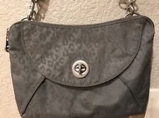 Baggallini Rio Handbag Crossbody Clutch Cheetah Pewter