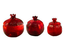 Turkish Pomegranate Glass Home Decor Red 3 Sizes , Best Holiday Gift