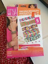 Style Me Up! Precious Bracelets New Nib Friendship String & Rhinestones
