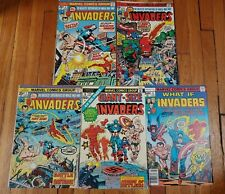 Invaders Bronze Age lot. #1, Giant Size #1, #3, 5 What If #4 Marvel. Lower Grade