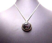 Anhänger Halskette necklace 585 GOLD Granat garnet grenat collana oro Art Deco