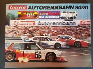 Carrera Katalog Autorennbahn 80/81