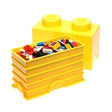 Légo stockage brique 2 JAUNE jouets pour enfants Boite de rangement salle jeux