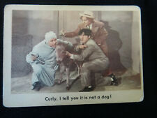 """The 3 Stooges Fleer 1959 Trading Card - #67 """"Curly, I tell you it is not a dog!"""""""