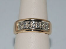 14k Gold Band with Diamonds and Weighs 6.3 Grams