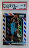 2018-19 Panini Prizm Red White Blue Devonte Graham Rookie RC #288, Graded PSA 10