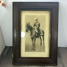 More details for authentic british army field marshal sir john french horseback framed print rare