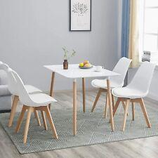 110*70cm Mesa de comedor rectangular y 4 sillas Juego de comedor de cocina retro