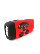 Emergency Solar Hand Crank Power Bank Weather Radio Light With USB Charger USA