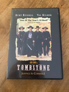 TOMBSTONE MOVIE DVD EXCELLENT CONDITION WESTERN ACTION ROMANCE KURT RUSSELL