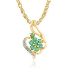 Collares y colgantes de joyería con gemas verde naturales colgante