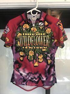 Louis Garneau Womens M Chico Velo Wildflower Century Cycling Jersey