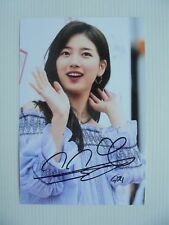 Suzy Bae Miss A 4x6 Photo Korean Actress KPOP autograph signed USA Seller A7