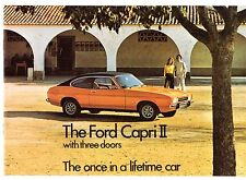 Ford Capri Mk2 1974 UK Market Sales Brochure 1300 1600 2000 3000 L XL GT