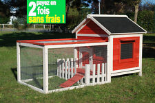 CAGE POUR LAPIN BOIS-CLAPIER LAPIN EN BOIS-TOIT OUVRANT ANIMALS COTTAGE AS4502CO