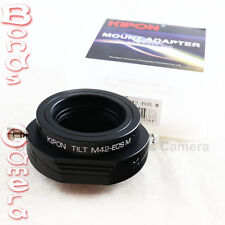 Kipon Tilt Adapter for M42 mount to Canon EOS-M EF-M camera M2 Latest model 360