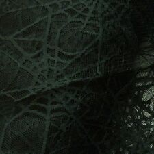 Black Spiderweb Lace Net Halloween Fabric (Per Metre)
