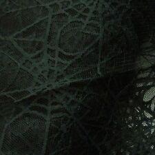 Negro Spiderweb Encaje neto De Halloween Tela * Por Metro