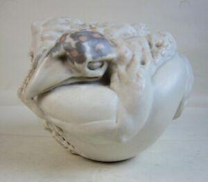 c1990 Ruth & Alan Barrett-Danes Grotesque Bestiary Pottery Man-Bird Creature/Egg
