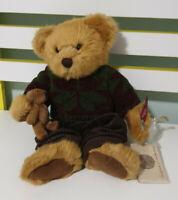 RUSS VINATGE COLLECTION TEDDY BEAR SIR DUNCAN HOLDING A TEDDY 30CM WITH TAGS!