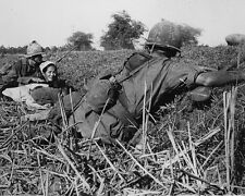 "US Soldier helps woman refugee from Vet Cong  8""x 10"" Vietnam War Photo 269"