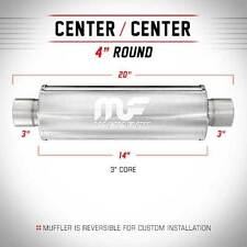 """Magnaflow Exhaust Muffler 3"""" In Out 4"""" Round Free Shipping 14419"""