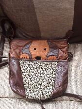 BEAUTIFUL BUTTER SOFT BROWN SAUSAGE DOG BAG / CROSS BODY BAG