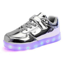 USB Boys Girls LED Light up Luminous Sportswear Sneakers Kids Casual Shoes