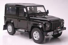 Land Rover Defender 90 car model in scale 1:18 black