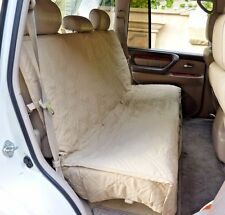 Suv Truck Car Back Seat Bench Cover For Dogs and Cats. Quilted & Padded. Taupe