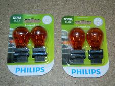 (2) PACKS OF 2 PHILIPS LONGER LIFE 3757NA TURN SIGNAL LIGHT BULBS 3757NALLB2