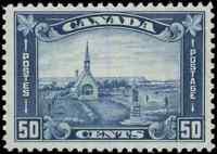 Canada #176 mint F-VF OG 1930 Arch/Leaf 50c dull blue Acadian Memorial Church