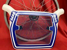 100% NOS BMX oldschool original packed rare AERO race TECH MESH plate panel blue