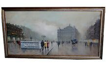 Antonio DeVity Italian Oil on Canvas Painting Signed Paris Opera House Street