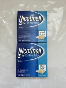 2 x Nicotinell Step 1 - 21mg Patch - 7 Day Supply - 24 Hour Support