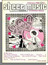 Sheet Music Magazine (Standard Organ) - 1982, February - Valentine Songs!
