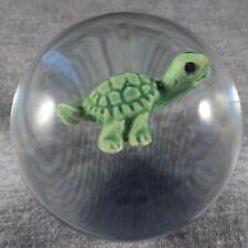 "BB Marbles: Contemporary Turtle Sulphide. 2-1/8"". Mint. (KB4)"