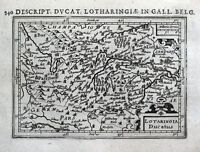 LORRAINE, FRANCE, METZ, NANCY, VERDUN, EPINAL, BERTIUS original antique map 1618