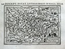 Lorraine, France, Metz, Nancy, Verdun, Serie, Bertius original antique map 1618