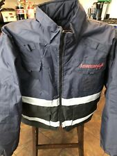 Heavy Jacket Coat L American EAGLE Airlines All Weather Safety Reflectors L