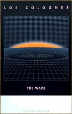Los Colognes The Wave 2017 Ltd Ed Rare New Poster +Free Rock Indie Pop Poster!