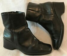 Hush Puppies Black Ankle Leather Lovely Boots Size 6 (469v)