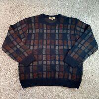 Vintage MUNSINGWEAR Multicolour Patterned Knit Jumper Pullover Mens Large