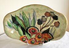 Vintage Art Deco Carlton Ware Lustre Enamels Gum Tree Pattern Bowl