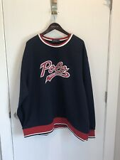Polo Ralph Lauren Script Rubber Logo Sweatshirt Navy Red White Big&Tall 2XB