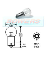 LUCAS LLB989 12V VOLT 5W MCC BA9S SINGLE CONTACT LIGHT BULB BAYONET FITTING