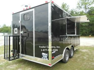 NEW 8.5x16 8.5 X 16 Enclosed Concession Food Vending BBQ Trailer