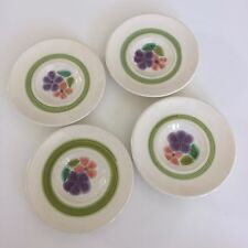 "Four (4) Franciscan Earthenware Floral Pattern 5 5/8"" Small Plates Saucers 1970s"