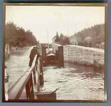 Norge, Bandak Kanal (Telemark Kanal) fra Dalen til Skien  Vintage citrate print.