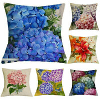 Printed Cover 18'' Coussin Home Decor Cushion Floral Pillow Linen Case Oil